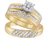 Three Piece Wedding Set 10K Yellow Gold 0.32 cts. GD-96753