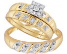 Three Piece Wedding Set 10K Yellow Gold 0.13 cts. GD-96756