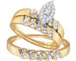 Three Piece Wedding Set 10K Yellow Gold 0.14 cts. GD-96758