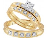Three Piece Wedding Set 10K Yellow Gold 0.28 cts. GD-96761