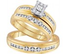 Three Piece Wedding Set 10K Yellow Gold 0.30 cts. GD-96765