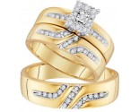 Three Piece Wedding Set 10K Yellow Gold 0.35 cts. GD-96766