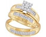 Three Piece Wedding Set 10K Yellow Gold 0.34 cts. GD-96773