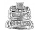 Three Piece Wedding Set 10K White Gold 0.33 cts. GS-22087