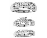 Three Piece Wedding Set 14K White Gold 1.15 ct. GS-20248