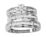Three Piece Wedding Set 14K White Gold 1.00 ct. GS-20249