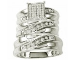 Three Piece Wedding Set 10K White Gold 0.40 cts. GS-20702