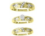 Three Piece Wedding Set 10K Yellow Gold 0.16 cts. GS-20711
