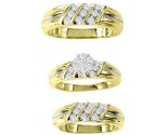 Three Piece Wedding Set 10K Two Tone Gold 0.75 cts. GS-20716