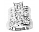 Three Piece Wedding Set 14K White Gold 1.00 ct. GS-20749