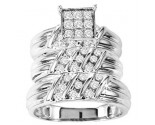 Three Piece Wedding Set 14K White Gold 0.80 cts. GS-20753