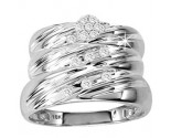 Three Piece Wedding Set 10K White Gold 0.25 cts. GS-20776