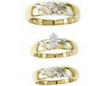Three Piece Wedding Set 10K Two Tone Gold 0.25 cts. GS-20856
