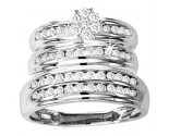 Three Piece Wedding Set 10K White Gold 1.00 ct. GS-21803