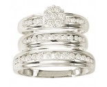 Three Piece Wedding Set 10K White Gold 1.00 ct. GS-21804