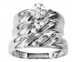 Three Piece Wedding Set 10K White Gold 0.33 cts. GS-21805