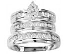 Three Piece Wedding Set 10K White Gold 1.00 ct. GS-21826