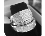 Three Piece Wedding Set 10K White Gold 0.50 cts. JJ-20016