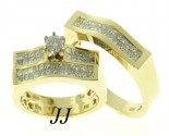 Three Piece Wedding Set 14K Yellow Gold 2.15 cts. JRX-28259