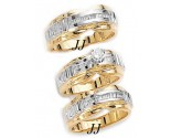 Three Piece Wedding Set 14K Two-Tone Gold 0.85 cts. JRX-10260