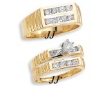 Three Piece Wedding Set 14K Yellow Gold 1.00 cts. JRX-10263