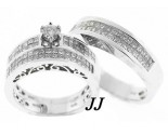 Three Piece Wedding Set 14K White Gold 2.35 cts. JRX-28260