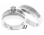 Three Piece Wedding Set 14K White Gold 2.35 cts. JRX-28261