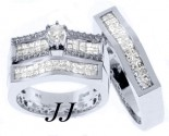 Three Piece Wedding Set 14K White Gold 2.15 cts. JRX-28262