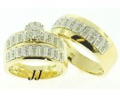 Three Piece Wedding Set 14K Two-Tone Gold 0.80 cts. JRX-28263