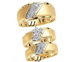 Three Piece Wedding Set 14K Two-Tone Gold 0.50 cts. JRX-11260