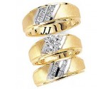 Three Piece Wedding Set 14K Two-Tone Gold 0.62 cts. JRX-11261