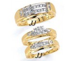 Three Piece Wedding Set 14K Two-Tone Gold 1.05 cts. JRX-11262