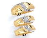 Three Piece Wedding Set 14K Two-Tone Gold 0.45 cts. JRX-12260