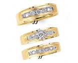 Three Piece Wedding Set 14K Yellow Gold 0.65 cts. JRX-12261
