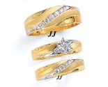 Three Piece Wedding Set 14K Two-Tone Gold 0.60 cts. JRX-12262