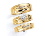 Three Piece Wedding Set 14K Yellow Gold 0.40 cts. JRX-12263