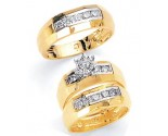 Three Piece Wedding Set 14K Two-Tone Gold 0.70 cts. JRX-1260