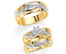 Three Piece Wedding Set 14K Two-Tone Gold 0.43 cts. JRX-1261