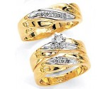 Three Piece Wedding Set 14K Two-Tone Gold 0.60 cts. JRX-1262
