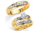 Three Piece Wedding Set 14K Two-Tone Gold 0.67 cts. JRX-1263