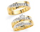 Three Piece Wedding Set 14K Two-Tone Gold 0.75 cts. JRX-1264