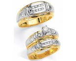 Three Piece Wedding Set 14K Two-Tone Gold 0.80 cts. JRX-2260