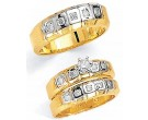 Three Piece Wedding Set 14K Two-Tone Gold 1.15 cts. JRX-2262