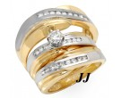 Three Piece Wedding Set 14K Two Tone Gold 0.75 cts. JRX-27260