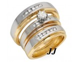 Three Piece Wedding Set 14K Two Tone Gold 0.65 cts. JRX-27262