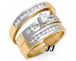 Three Piece Wedding Set 14K Two Tone Gold 0.85 cts. JRX-27264