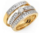 Three Piece Wedding Set 14K Two Tone Gold 0.95 cts. JRX-27268