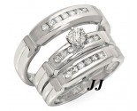 Three Piece Wedding Set 14K White Gold 0.75 cts. JRX-27269