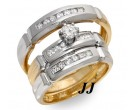 Three Piece Wedding Set 14K Two Tone Gold 0.75 cts. JRX-27270