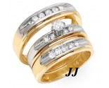 Three Piece Wedding Set 14K Two Tone Gold 0.85 cts. JRX-27274